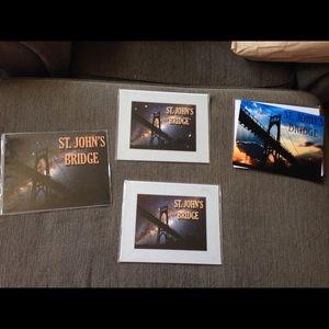 🔴Bundle 4 Postcards Picture Art St. John's Bridge